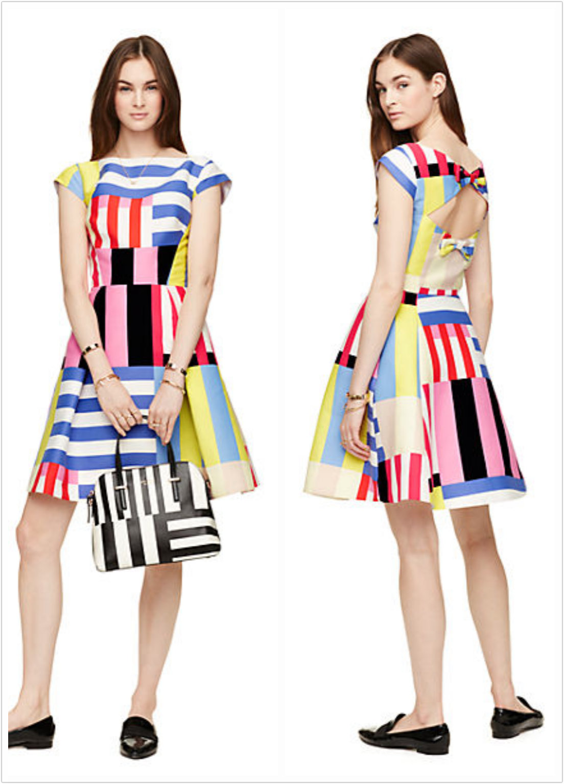 Multi Stripe Kite Bow Back Dress (S$720)