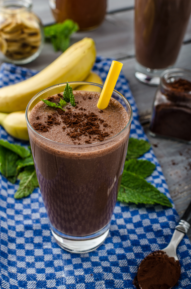 Chocolate Banana Avocado Milkshake