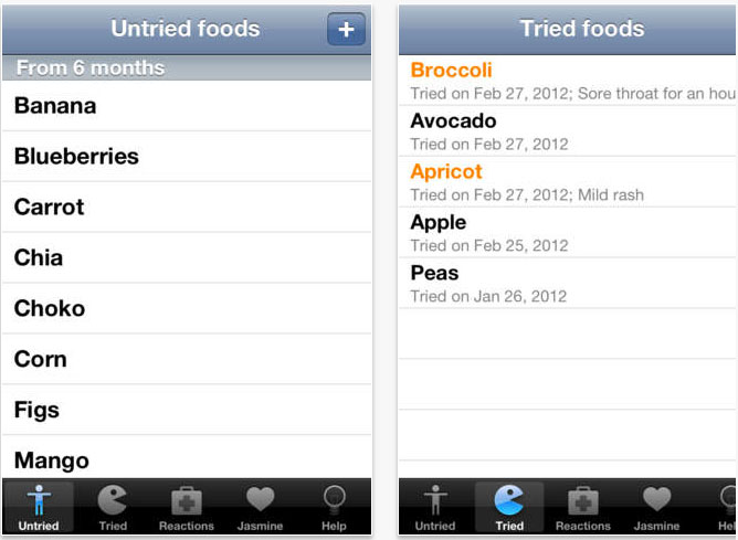 8 useful apps baby food tracker