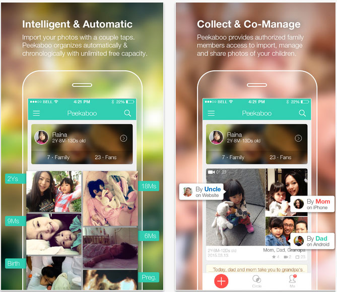 8 useful apps peekaboo moments