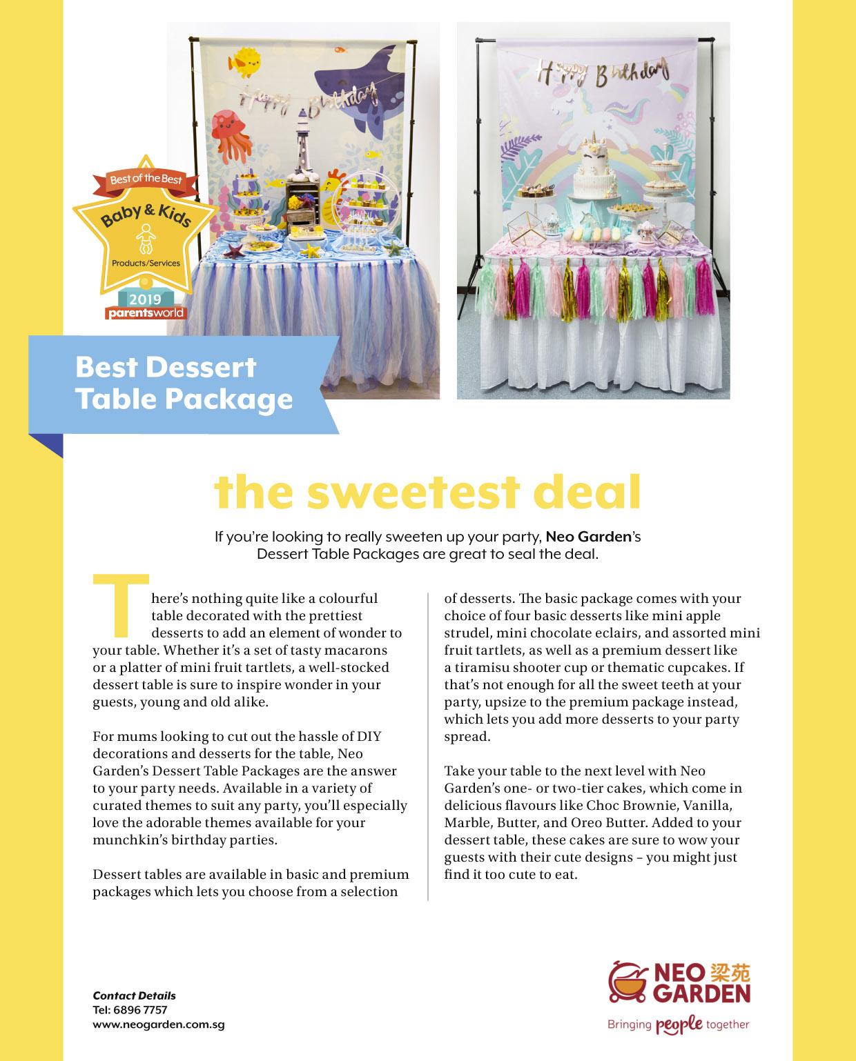 Best Dessert Table Package - Parents World